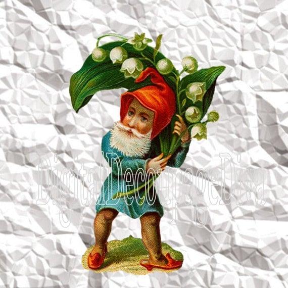 free garden gnome clipart - photo #48
