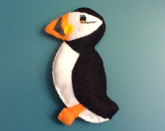 Colorful Felt Puffin gift/keepsake/favor/Christmas tree decoration