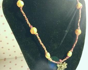 Autumn Bloom Hemp Necklace