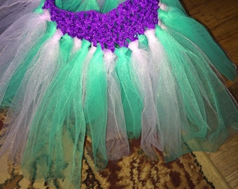 Teal/light purple tutu