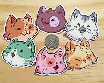 Cat Pack Stickers (Individual!)