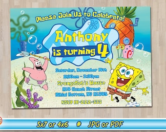 SpongeBob SquarePants Birthday Party Invitation