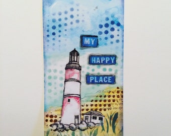 Art print - light house with quote