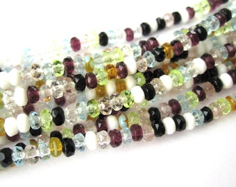 1 strand 4 x 2, 5mm Czech glass beads mix