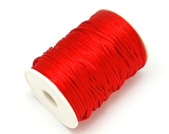 3m satin ribbon satin cord Red