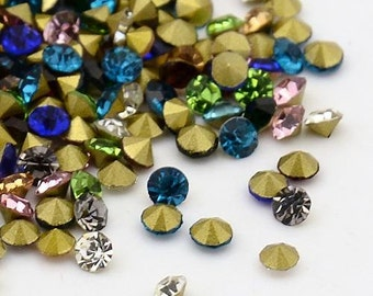 100 PCs mix SS8 rhinestones - 2.4 mm -