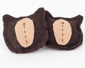 Reusable Microwavable Child's Bear Handwarmers Flaxseed Hand Warmer