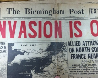Newspaper Headlines/ World War II
