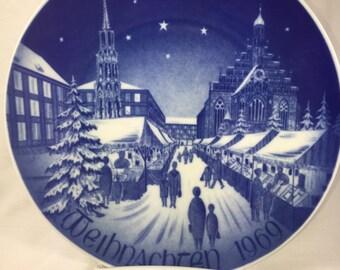 German/ Religious/ Christmas Market Plate