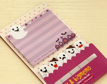 Ghost Spooky Halloween Sticky Notes - Cute Kawaii Post-It Notes / Cute Stationery / Stationary / Cute School Supplies / Stick and Big Memo