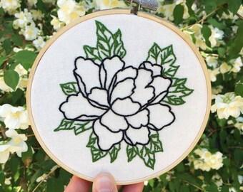 Floral Botanical Handmade Embroidery Hoop