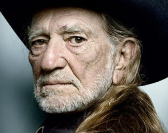 "2"" x 3"" Magnet Vintage Willie Nelson Poster"
