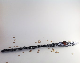 30.5cm wizard wand purple and silver. One of a kind ready to ship