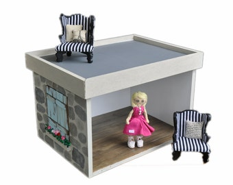 MiniMolly Dollhouse Furniture , Stackable Room