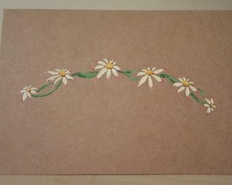 Daisy chain greetings card