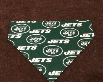 Dog Bandana -- New York Jets Inspired Dog Bandana Over the Collar Puppy Bandana Over Collar Dog accessories Pet Accessories