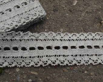 Natural Grey Linen Lace