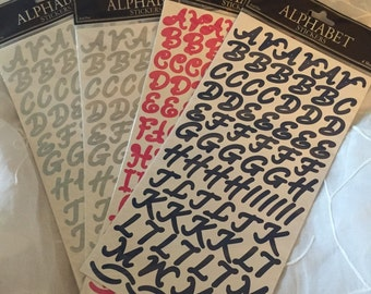 The Paper Studio Scrapbooking Alphabet Stickers