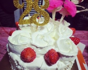 Golden Ballet Girls birthday cake/cupcake toppers