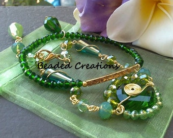 Double Wire Wrapped Bracelet