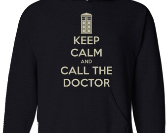 Keep Calm And Call The Doctor - Classic Sci-fi Cult TV series inspired Mens Hoodie, Hooded top VHM1479