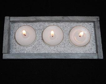 Tea light candle holder - Triple