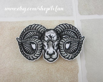 Embroidered Ram Sheep Patch Iron/Sew On