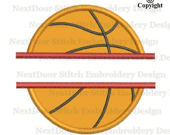 Split basketball embroidery design,  font space machine embroidery applique instant download,  sp-015