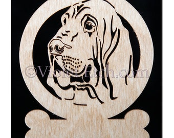 Bloodhound Ornament-Bloodhound Gift-Free Personalization