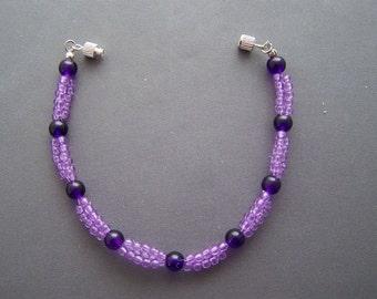 Purple Woven Bracelet