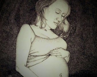 Custom Portrait, Pointillism, Stippling, Pen and Ink