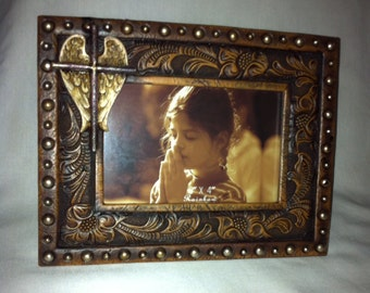 Picture Photo Frame Cross with Wings CW8X6