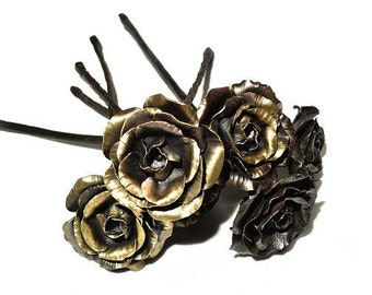 Half a Dozen Steel Roses