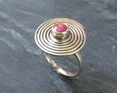 Ruby Ring Natural Ruby 1 Carat Ruby July Birthstone July Ring Infinity Ring Tribal Red Ring July Gemstone Solid Silver Pure Silver