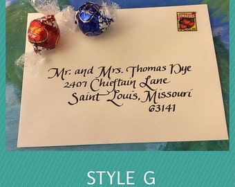 Elegant Calligraphy Addressing for Wedding Envelopes, Party Invitations, Business Events
