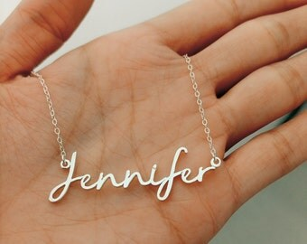 Dainty Name Necklace, Initial Necklace, Personalized Necklace, Custom Name Necklace, Initial Custom Necklace, Girlfriend Gift, Name Necklace