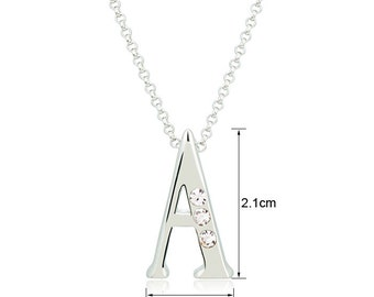 Austrian Crystal Initial / Letter Necklace