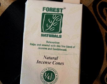 Incense cone of forest Naturals relaxation