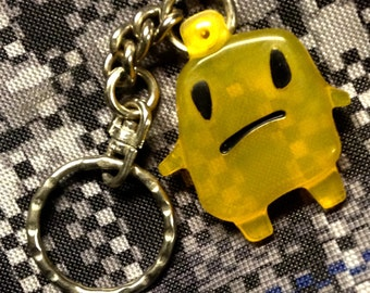 Retro Frowny Jelly Man Keychain