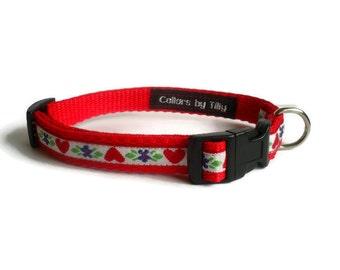 Heart & Flowers Dog Collar