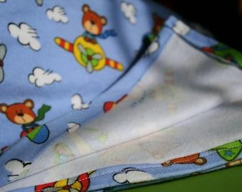"""40"""" Receiving Blanket - Flying Bears"""