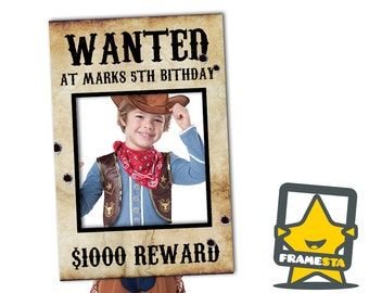 Custom Designed Wanted Poster (Digital File Only) - Photo Booth Prop Western Party, Cowboy Party, Decorations