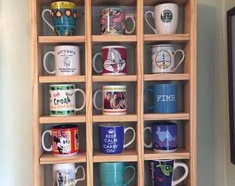 Display shelf for coffee/tea mugs