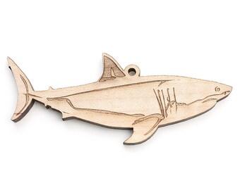 Shark Christmas Ornament - Great White Shark by Nestled Pines Workshop