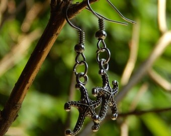 Handmade Starfish Charm Earrings