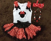 Minnie Mouse outfit, Minnie Mouse birthday, disney girl outfit, Minnie Mouse top