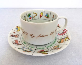 Fortune Telling Tea Cup and Saucer by International Collectors Guild