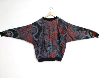 Large Abstract Sweatshirt- Indonesian Batik
