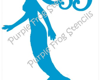 Mermaid STENCIL (Reusable) Different Sizes Available, Ocean, Sea
