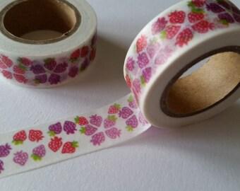 pink and purple strawberry Washi Tape